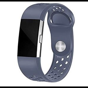 Accessories - For Fitbit Charge 2 Perforated Silicone Band